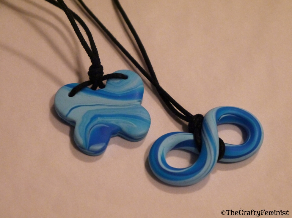 Polymer Clay Necklaces by The Crafty Feminst