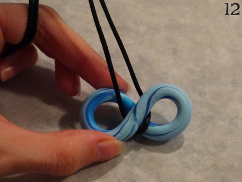 Polymer Clay Necklace step 12