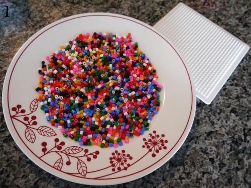 Cat Perler Bead Coasters 1