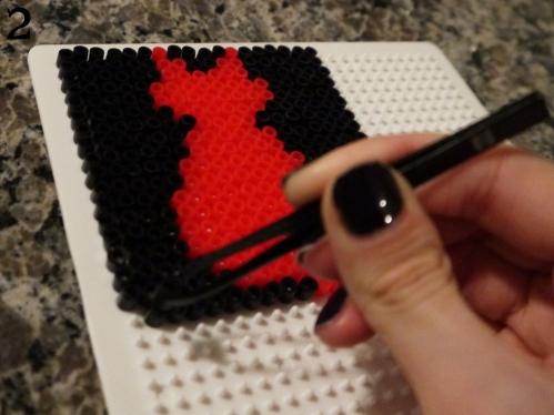 Cat Perler Bead Coasters 2