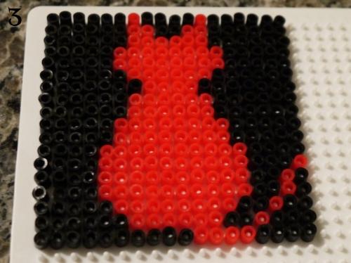 Cat Perler Bead Coasters 3