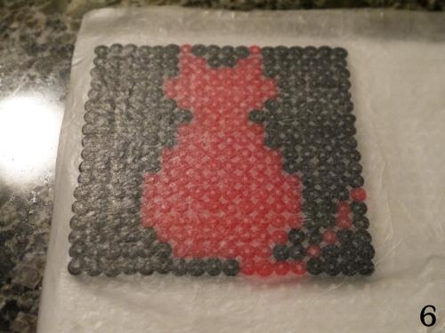 Cat Perler Bead Coasters 6