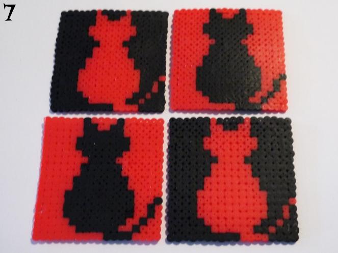Cat Perler Bead Coasters7
