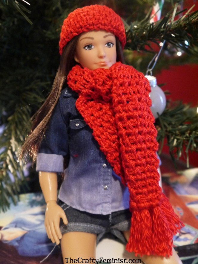 Crochet Hat and Scarf for Lammily - Free Pattern