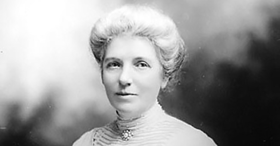 Black and white portrait of Kate Sheppard