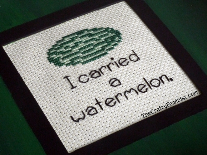 'I Carried a Watermelon' Dirty Dancing Cross Stitch